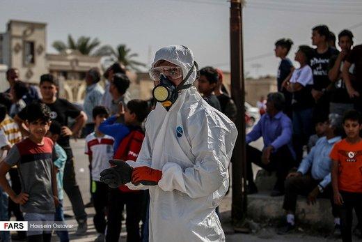 رزمایش پدافند پرتویی نیروگاه اتمی بوشهر