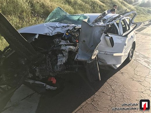 واژگونی پژو 207 در بزرگراه خرازی