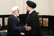 دیدار سیدحسن خمینی و خاتمی با ناطقنوری در حسینیه جماران