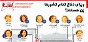 اینفوگرافیک | وزرای دفاع کدام کشورها زن هستند؟