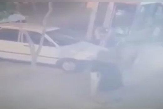 فیلم   لحظه ربوده شدن کودک مشهدی از جلوی در خانه!