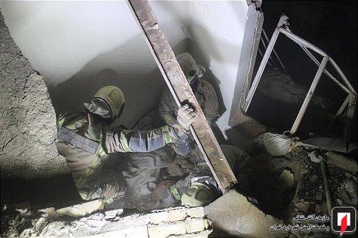 انفجار و آتشسوزی ساختمان در خیابان نجاتالهی جنوبی
