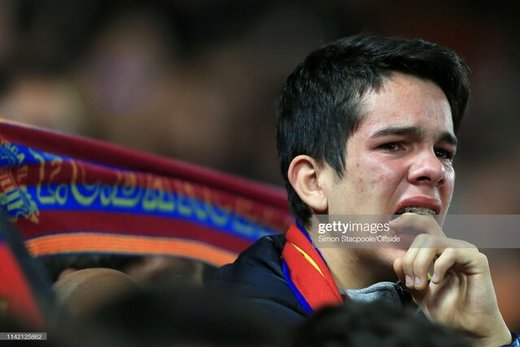 اشکهای هوادار بارسلونا