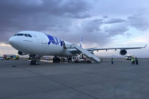 French plane leaves Iran for Dubai after emergency landing