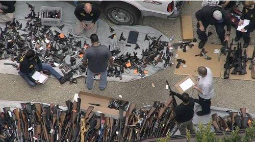 خانه لاکچری در لسآنجلس که انبار اسلحه بود/ عکس