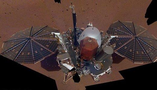 گرد و غبار مریخی، سطح «اینسایت» را پوشاند