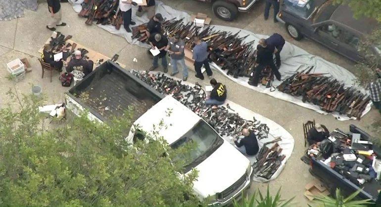 خانه لاکچری در لسآنجلس که انبار اسلحه بود + تصاویر