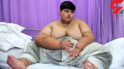 پسر ۱۰ ساله پاکستانی چاقترین کودک جهان