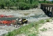 سقوط مرگبار کامیون در استان کرمان