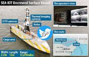 حمل محموله ۵ کیلوگرمی با کشتی بدون سرنشین از انگلیس تا بلژیک
