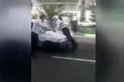 فیلم   مسافرکش خیابان میرداماد زد به مامور پلیس!