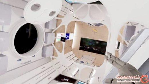 نگاهی به طراحی داخلی اولین هتل فضایی لوکس دنیا