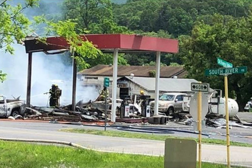 فیلم | انفجار مرگبار در پمپ بنزین ویرجینیا