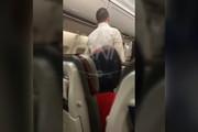 فیلم | درگیری یک زوج خارجی در پرواز کیش-تهران