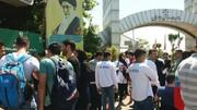 تجمع تعدادی از قهرمانان آسیایی و پاراآسیایی مقابل وزارت ورزش