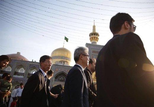 حضور سفیر کره جنوبی در حرم امام رضا (ع)