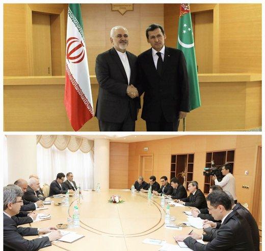 ظریف یؤكد علي تعزیز التعاون فی مجال الطاقة والنقل بین ایران وتركمانستان
