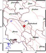 وقوع زلزله در دشتک استان چهارمحالوبختیاری