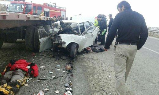 مرگ دلخراش ۴ سرنشین پیکان در ۲ تصادف مرگبار