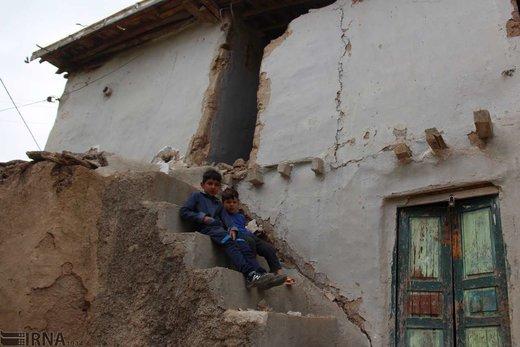رانش زمین در روستای «قلعه قافه بالا» گلستان