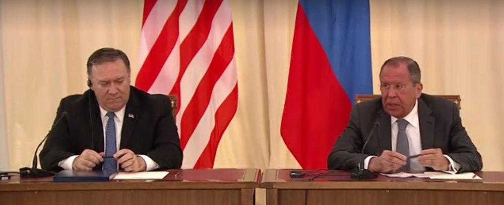 پمپئو: به فشار حداکثری علیه ایران ادامه میدهیم/ لاوروف: با پمپئو اختلافات زیادی درباره برجام داریم