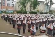 فیلم | حافظخوانی در مدرسه دخترانه به جای آهنگ «جنتلمن»