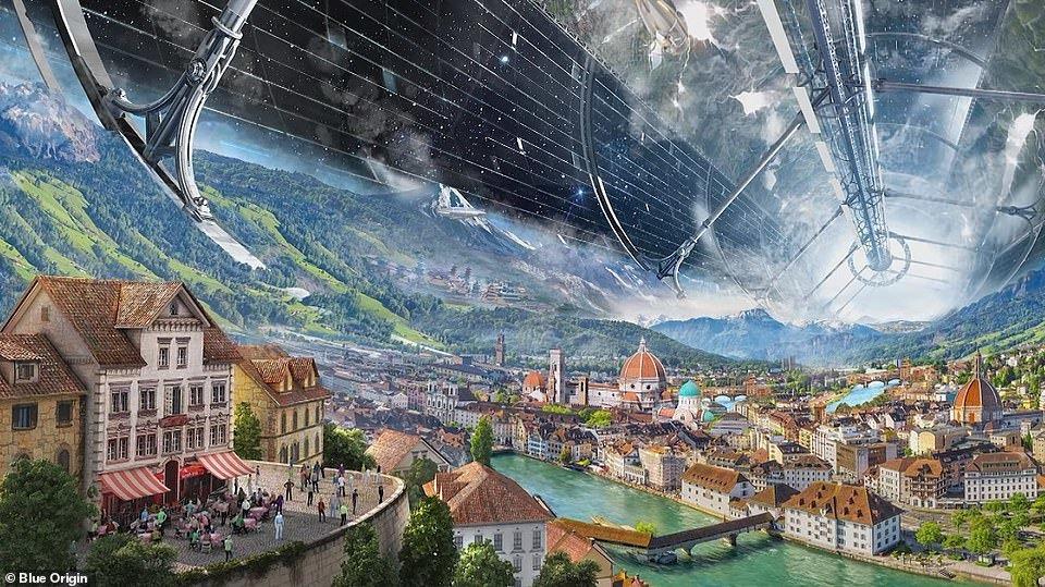 رونمایی جف بزوس از زیستگاه فضایی نزدیک کره زمین