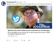اکانت توئیتر فرمانده ارتش میانمار مسدود شد