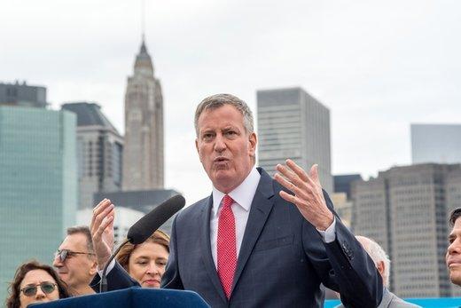 ورود شهردار نیویورک به انتخابات ۲۰۲۰/ عکس