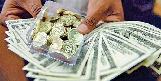 کاهش قیمت سکه و دلار همچنان ادامه دارد/ جدول