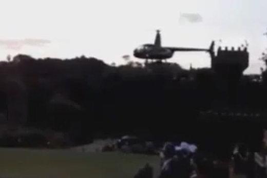 فیلم | لحظه هولناک سقوط هلیکوپتر عروس و داماد در برزیل