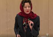 حرکت جالب نماینده پارلمان اتریش با روسری/ عکس