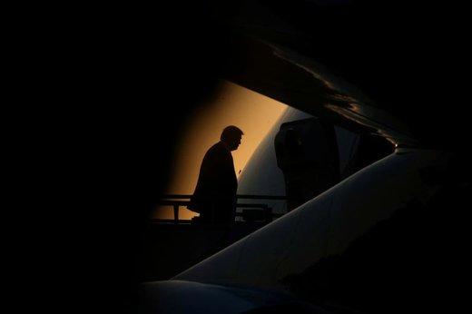 ترامپ یک روز پس از سفر در فرودگاه بینالمللی لوئیز آرمسترانگ نیو اورلنان