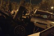فیلم و عکس   کورس دختر و پسر لاکچری با پورشه، جان راننده پراید را گرفت