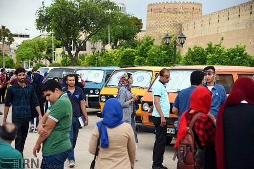 گردهمایی خودروهای کلاسیک فولکس در شیراز