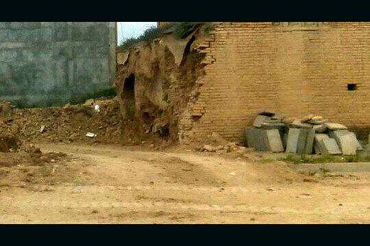 بخشی از بافت تاریخی چالشتر تخریب شد