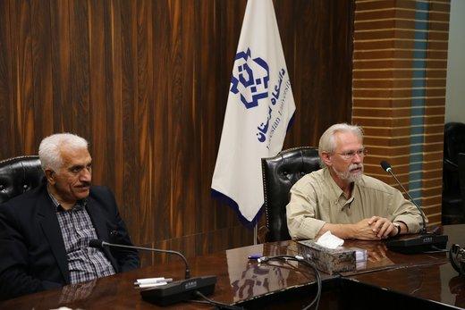 نشست مشترک رئیس دانشگاه لرستان و دیرینشناس هلندی در خرمآباد