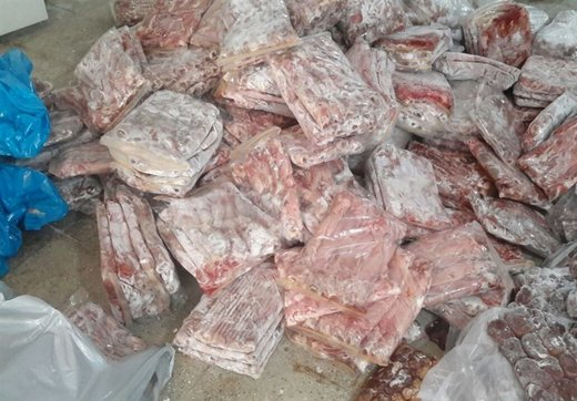 کشف ۱.۵ تن گوشت فاسد از پارکینگ منزل مسکونی/ عکس