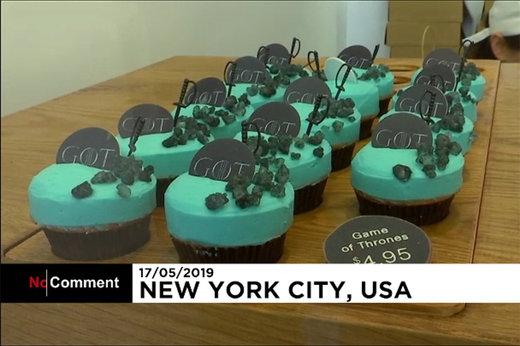 فیلم | کیکهای نیویورکی به شکل سریال «بازی تاج و تخت»