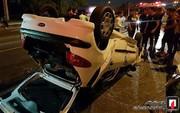 تصاویر   تصادف هولناک دو پژو ۲۰۶ در بزرگراه امام علی(ع)