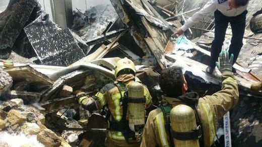 آتشسوزی در خیابان اشرفیاصفهانی تهران با یک کشته