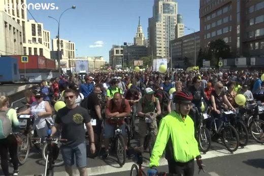 فیلم | دوچرخهسواری ۴۰ هزار نفری در مسکو!