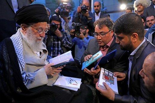 دیدار جمعی از شاعران و استادان زبان و ادب پارسی با رهبر معظم انقلاب اسلامی