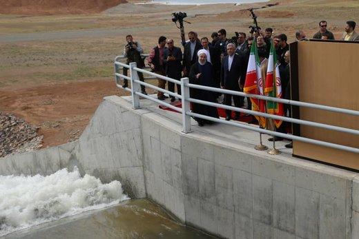 تصاویر | افتتاح و آبگیری سد کرمآباد پلدشت