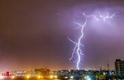 تصاویری دیدنی از رعد و برق در آسمان تهران