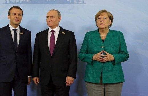 پوتین با مکرون و مرکل درباره سوریه رایزنی کرد
