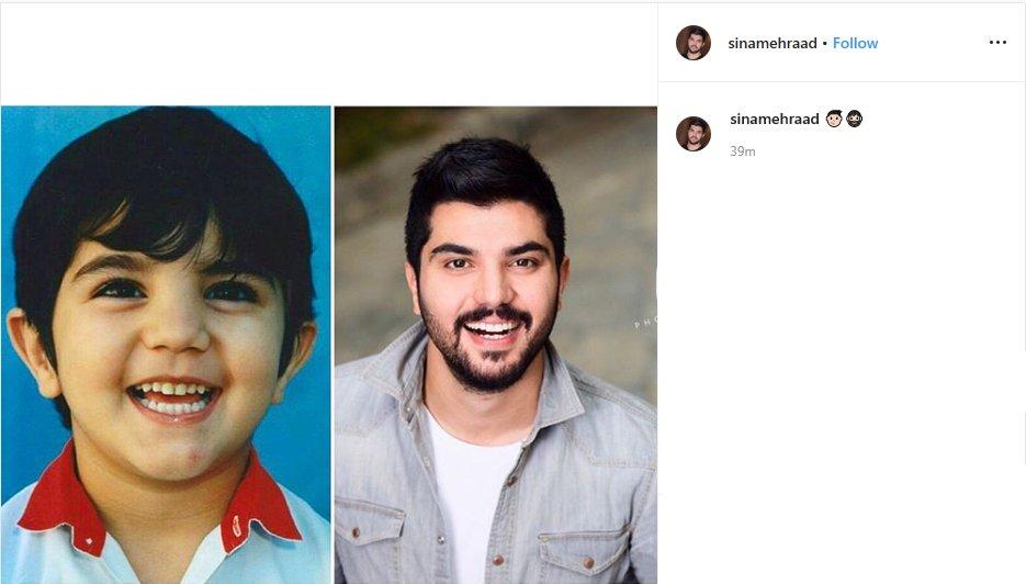 سینا مهراد, چهرهها در اینستاگرام,سریال پدر,فیلم ژن خوک,بازیگر نقش حامد سریال پدر
