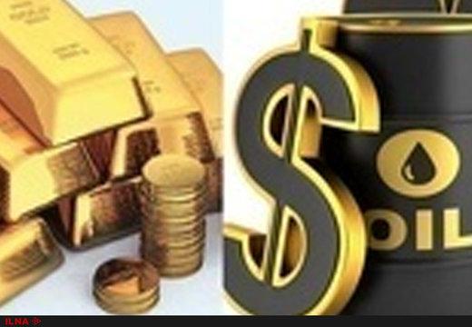نفت در بازار جهانی ارزان و طلا گران شد