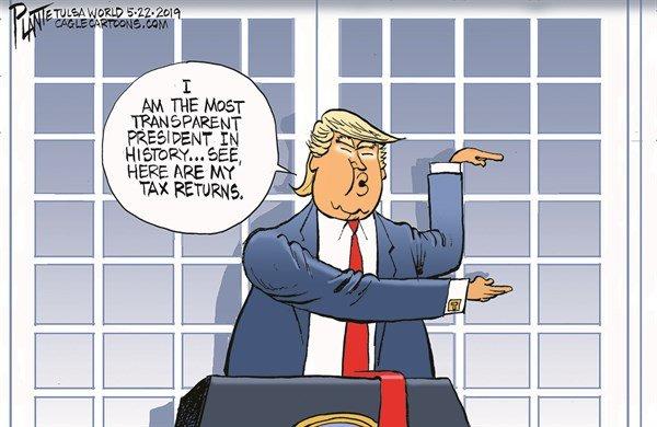 ترامپ اظهارنامه مالیاتی شفافش رو نشون داد!