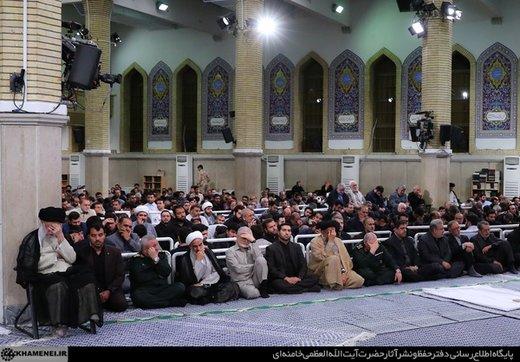 مراسم سوگواری سالروز ضربت خوردن حضرت امیرالمؤمنین(ع) در حضور رهبری